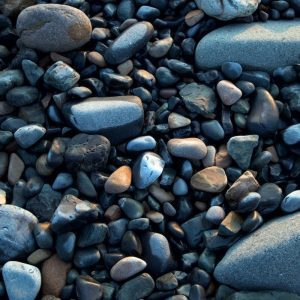 Assorted pebbles on a beach
