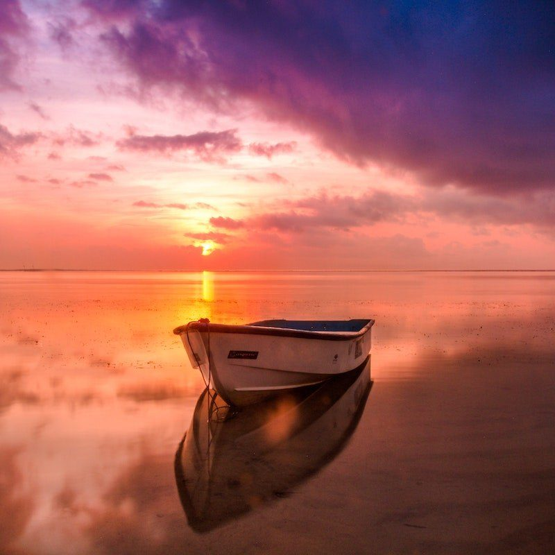 A calm mind reflects reality accurately just as a calm sea reflects like a mirror